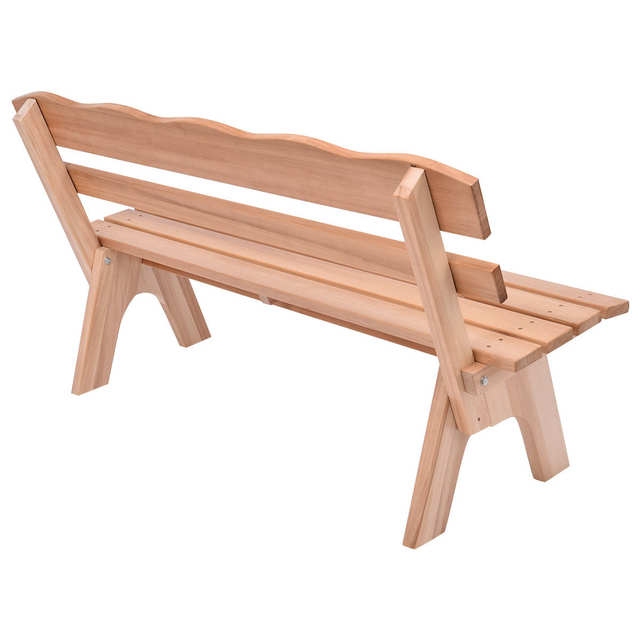 Online Shop Giantex 5 Ft 3 Seats Outdoor Wooden Garden Bench Chair