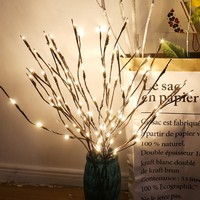 LED Willow Branch Lamp Floral Lights 20 Bulbs Home Party Garden Decor Christmas Birthday Gift gifts Desktop Decoration Lights