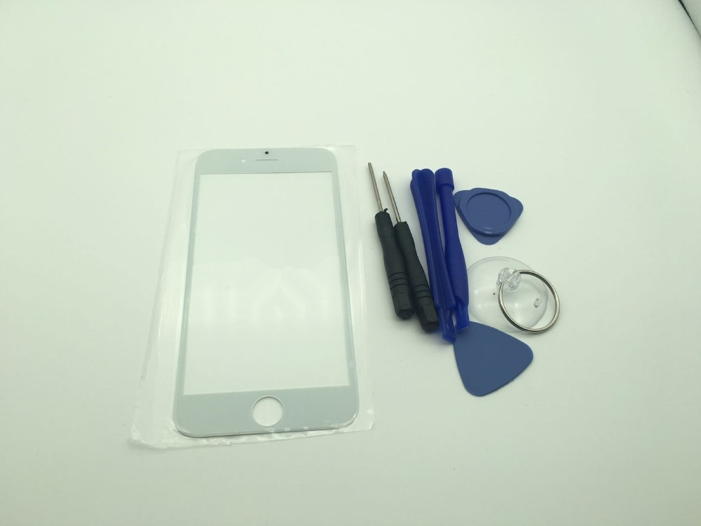 10p For Apple iPhone 4 4S 5 5S 6 6S 6 Plus 7 7S Plus 8 8 Plus Front Outer  Touch Screen Glass Lens Repair Replacement Parts Black-in Mobile Phone  Touch Panel