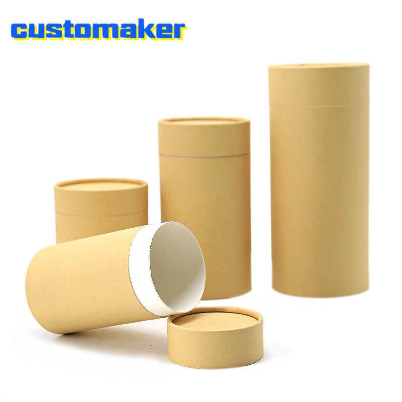 10pcs recycled kraft cardboard brown paper tube eco
