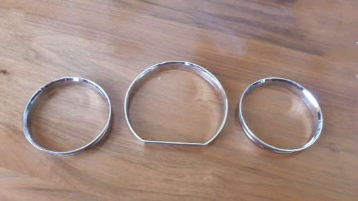 Chrome Speedometer Gauge Dial Ring Instrument Panel Ring fit for Mercedes Benz W124 W126