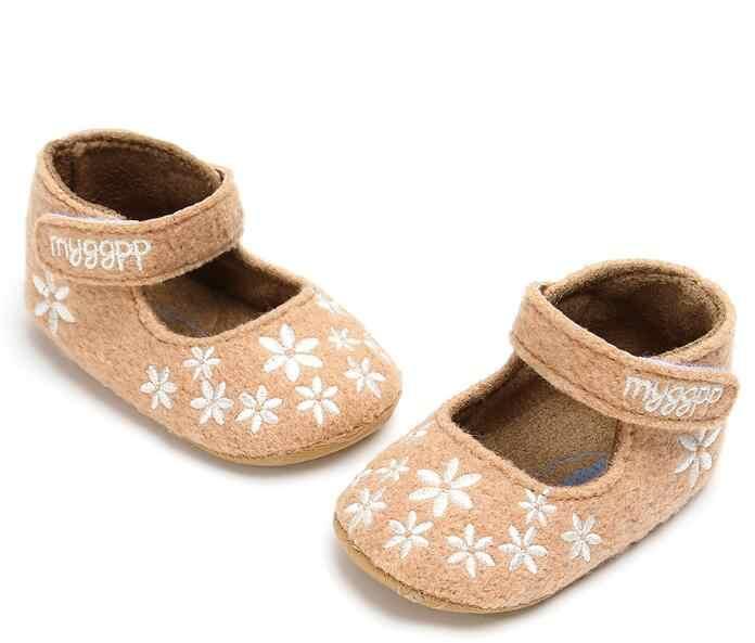 Sapatos de bebê Primeiros Caminhantes para o Infante Babt Meninos Meninas Moda gelo Flor de Algodão Macio Sole crianças Sapatos 0-18 m
