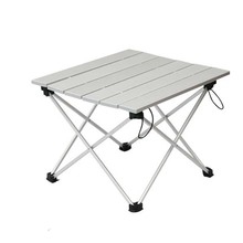 Outdoor Camping Table Portable Foldable Picnic Table Ultralight Durable Camping Tbale Aluminium Alloy Picnic Desk for Travel(China)