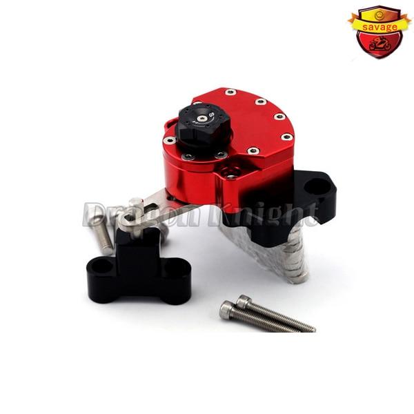For HONDA HORNET CB600F 2007-2013 Red Motorcycle Reversed Safety Adjustable Steering Damper Stabilizer with Mount Bracket