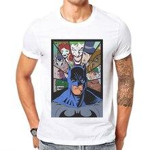 2019 Hot Product Mens T-Shirt Batman Printed O-Neck Short Sleeve Cotton Tops Tee Hip Hop T Shirt Super Hero Design Tshirts