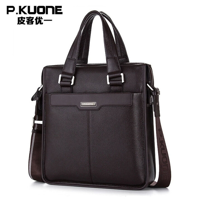 2014 New Men's Handbag Genuine Leather Luxury Brand Men Business Briefcase Handbags Messenger Bags High Quality Men Shoulder Bag