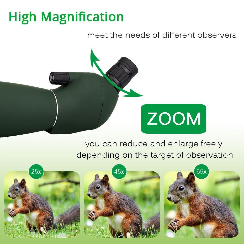 Adaptador de teléfono Universal y Monocular para caza con telescopio de Zoom de alcance de 50/60/70mm mountF9308 óptica al aire libre para caza, tiro, tiro con arco, observación de aves - 4