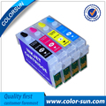Многоразовый картридж T1321- T1324 для принтера Epson Stylus N11 NX125  4 шт.  с чипами автоматического сброса
