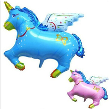 100cm Jumbo Giant  Flying Horse Shape Foil Balloon for kid toys, Big Inflatable Promotion airWalker Animal balloon for party цена
