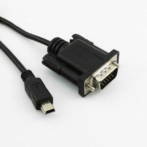 Image 2 - 1x 1.5m/5ft dla telefonów komórkowych DVD EVD USB Mini 5pin męski do VGA 15pin męskie złącze wtykowe kabel przewód czarny