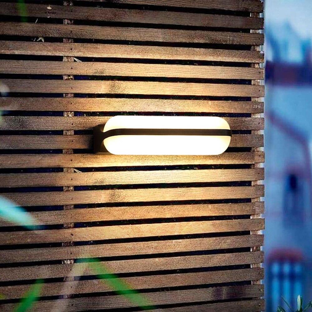 220v 110v Light IP44  LED Outdoor Lighting Wall Lamp Exterior Waterproof for  Outside Porch Gate Balcony Garden Veranda House