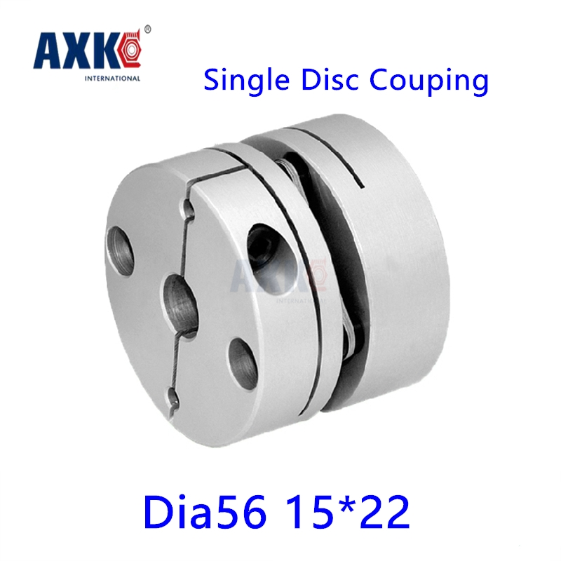 Rodamientos Ball Bearing Axk New Dia. 56mm 15mm To 22mm Single Diaphragm Disk Coupling Disc Coupler For Cnc Servo Stepper Motor 4pcs new for ball uff bes m18mg noc80b s04g