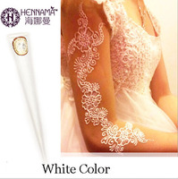 India HENNA Tattoos Paste For Women Lady Bride Party Professional White Mehndi Cream Hand Painted Pen