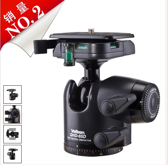 Free shipping! Velbon BALL Head QHD 65D for DSLR Camera Tripod купить