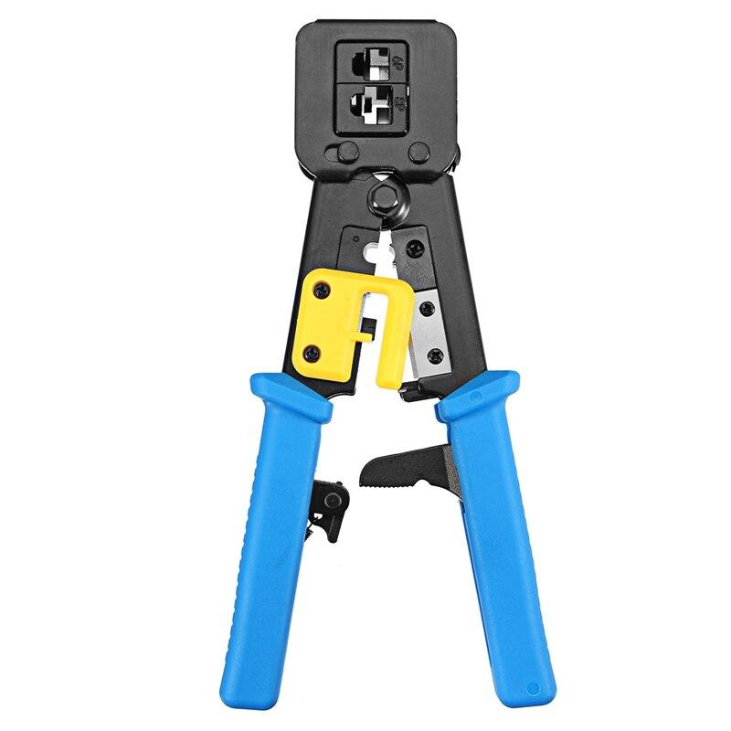 S SKYEE RJ11 RJ45 6 P 8 P red alicates herramientas Multi-función cortador de Cable Piercing de cabeza de cristal prensado doble-propósito alicates