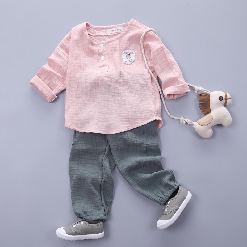 HTB1I1OJSXXXXXbaXXXXq6xXFXXX8 - Infantis Childrens spring autumn summer cotton Boys tops tees long sleeve t shirt +bind pants 2pc/set ,kids Clothes 0-5Year