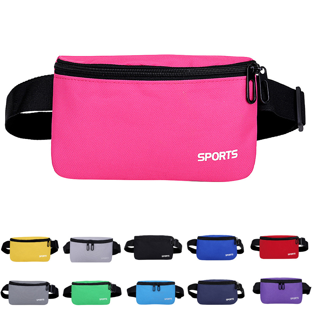 Fanny Pack for Women Men Waist Bag Colorful Unisex Waist Pack New Fashion Female Belt Bag male Zipper Bum Bag Hip Pouch #5$(China)