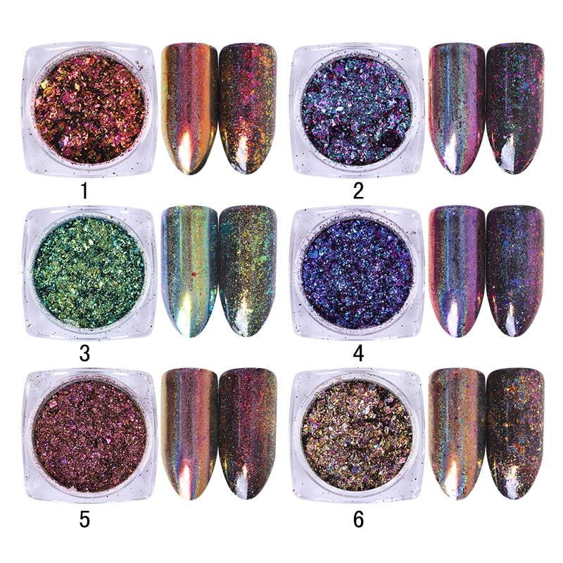 BORN PRETTY Holographic Nail Glitter Хамелеон Опасы 0.2g - Маникюр - фото 4