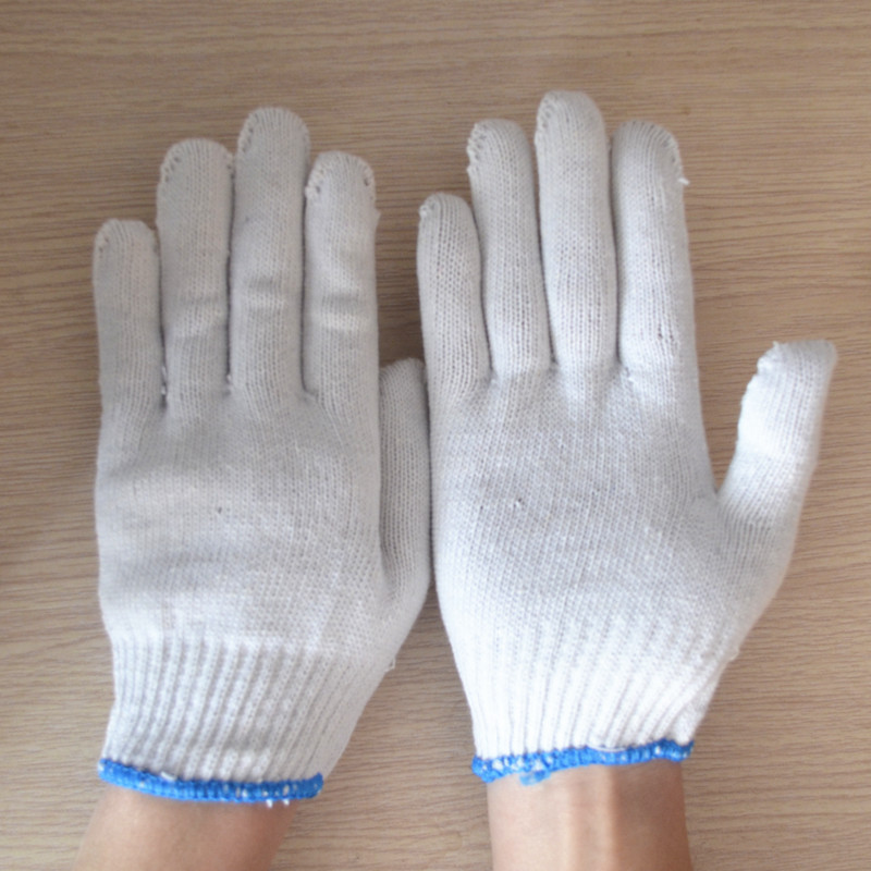 Work protective gloves cotton yarn nylon wear-resistant gloves protective gloves anti-skid thick durable high quality hand tool gloves 12 pairs 700g cotton gloves wear resistant work thick gloves against high low temperature gloves