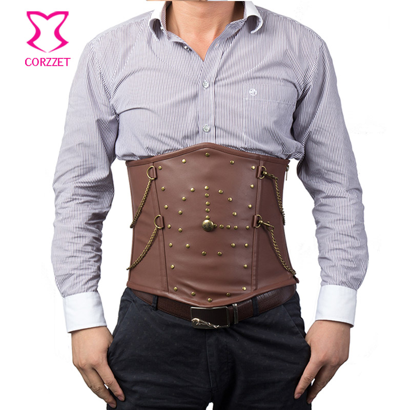 Aliexpress.com : Buy Mens Steampunk Clothing Brown Leather