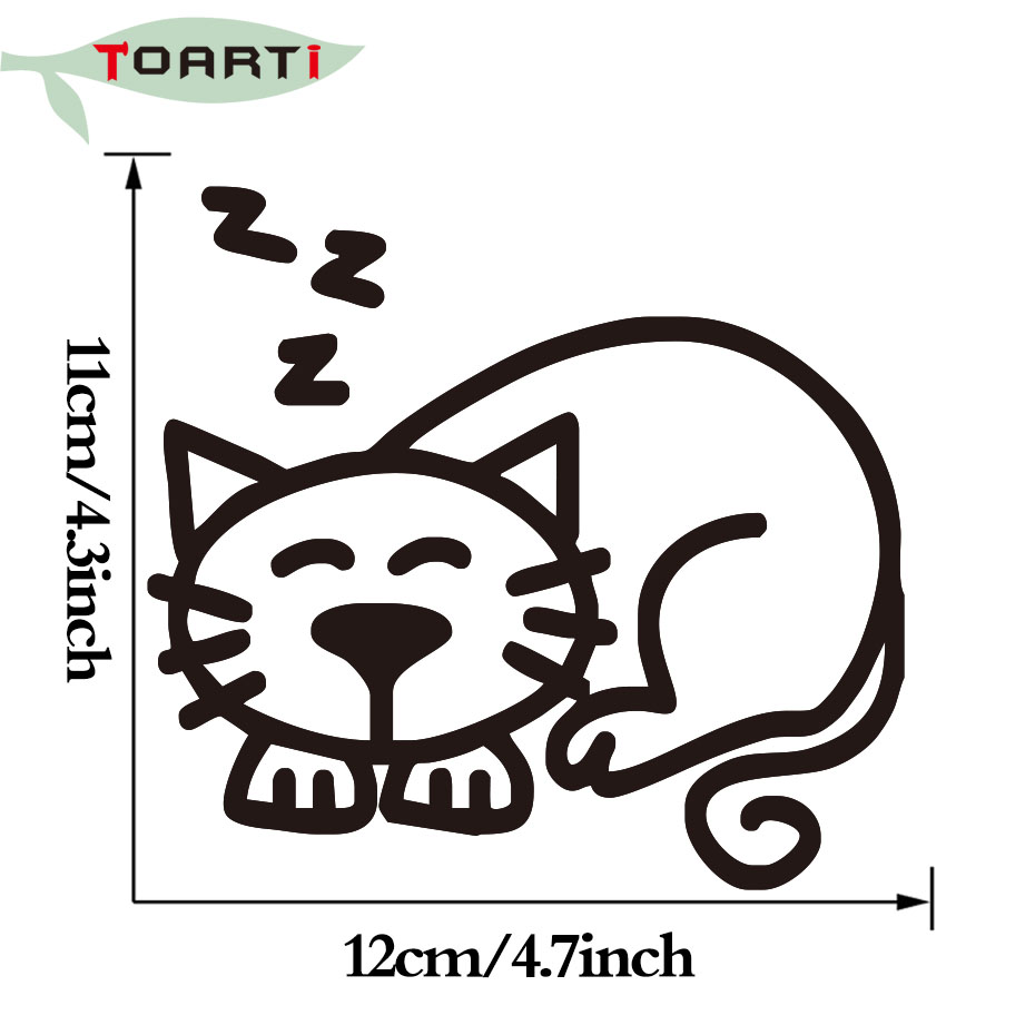 12*11CM Sleeping Cat Family Car Stickers DIY Adhesive Cartoon Animals Car  Styling Stickers Die Cut Window Ddecals-in Car Stickers from Automobiles ...