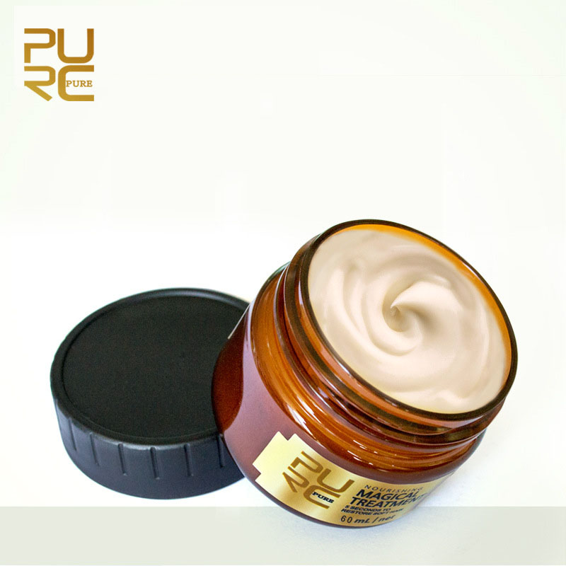Купить с кэшбэком PURC 60ml Magical Keratin Hair Treatment Mask 5 Seconds Repairs Damage Hair Root Hair Tonic Keratin Hair & Scalp Treatment