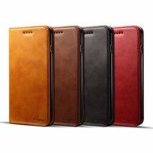 Luxo caso carteira de couro para o iphone xs max xr x 7 8 6s mais flip slot para cartão capa para samsung s9 plus nota 9 coque fundas saco