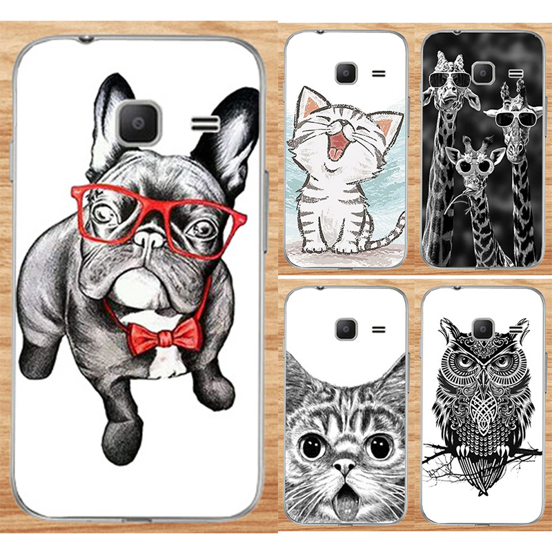 Cool Animal Cat Dog Printing Cases For Samsung Galaxy J1 Mini (2016) J105 J105H J105F Case For Samsung J1 Nxt Duos Phone Cover