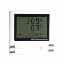 Sale Large Screen LCD Digital Portable Thermometer Hygrometer Alarm Detector Temperature Humidity Meter Sensor Indoor Detector