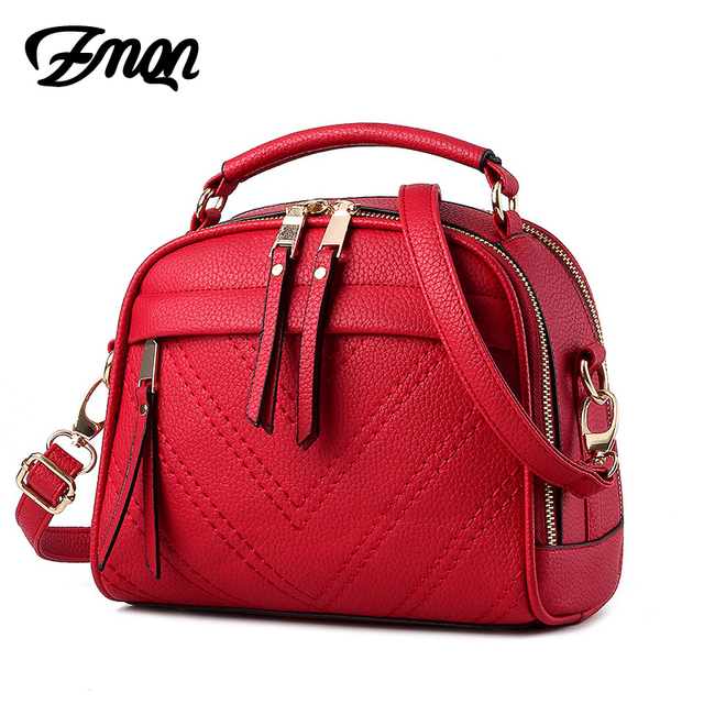 ZMQN Women Shoulder Bag Candy Colors Fashion Handbags Brand Small Leather Crossbody Bags For Women Messenger Bag Girl Zipper 507