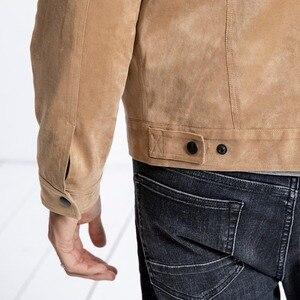 Image 5 - SIMWOOD Smooth Suede camionero Chaqueta Hombre 2019 otoño ropa de trabajo clásica Look moda occidental abrigos Slim Fit ropa de