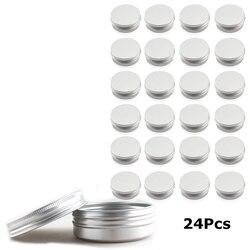 24 60 ml latas de tornillo de Metal redondo de bálsamo de labio latas contenedores bálsamo lata tarro de almacenamiento de contenedores con tapa de tornillo de costumbre crecer Semilla de amor que (cuenta 50) sellado con semillas incluidas,