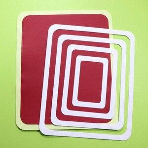 Image 3 - 2 Bộ Cắt Lớn Chết Góc Tròn Hình Chữ Nhật & VUÔNG Cardmaking Sổ Lưu Thủ Công DIY Bất Ngờ Sáng Tạo Qua Đời