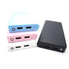 Универсальный 7×18650 USB Портативное Зарядное Устройство Power Bank Дело Внешняя Коробка комплект DIY Коробка Зарядное устройство С Dual USB Для Мобильных телефон