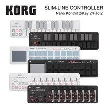 Korg nanopkey2 nanocontrol2 coussinets MIDI, à ligne fine, 16 trémies, avec câble USB