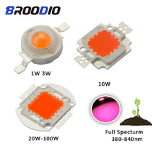 LED Lamp COB Bulb Chip Beam LED Grow Plant Light Diode Full Spectrum Lamps 1W 3W 5W 10W 20W 30W 50W 100W LED DIY Flood Spotlight недорого