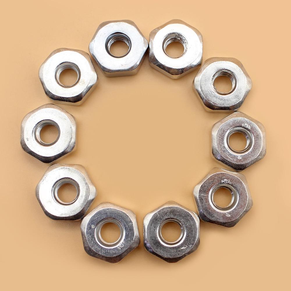 10Pcs/lot M8 Heaxgon Bar Nuts For STIHL Chainsaw 009 010 011 012 017 018 019 020 021 023 024 025 026 028 029 031 032