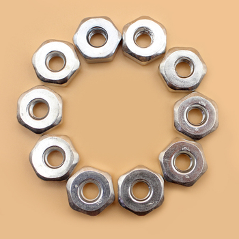 10Pcs/lot M8 Heaxgon Bar Nuts For STIHL Chainsaw 009 010 011 012 017 018 019 020 021 023 024 025 026 028 029 031 032 44 7mm cylinder piston ring sets air fuel line filter for stihl 026 ms260 026 pro 1121 020 1217