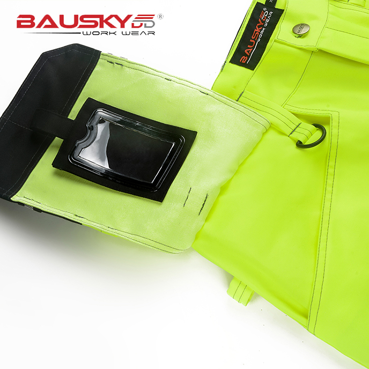 Bauskydd Hi vis tool pocket pant functional safety workwear work trousers  cargo work pant with knee pads free shipping