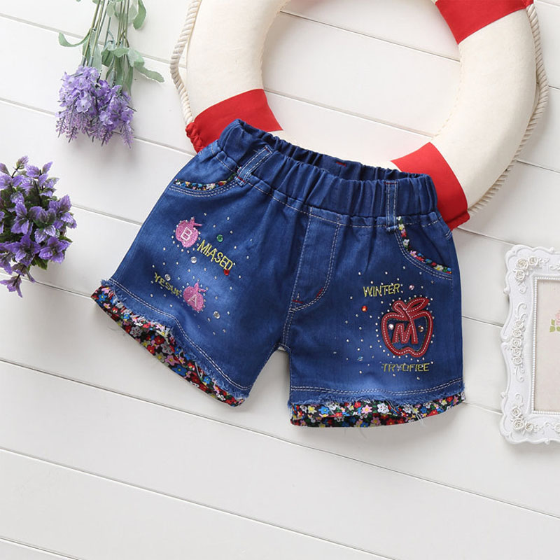 IENENS Fashion Girls Denim Pants   Shorts   Baby Toddler Infant Girl Soft Trousers Jeans Kids Children Casual Clothes Clothing 2-5Y