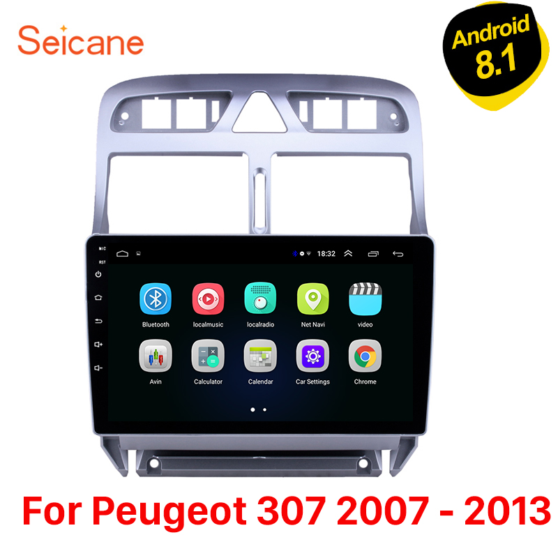 "Seicane Android 8.1 9"" Car Stereo Multimedia Player  for Peugeot 307 2007 2008 2009 2010 2012 2013  Auto Radio GPS Navigation 3G-in Car Multimedia Player from Automobiles & Motorcycles    1"
