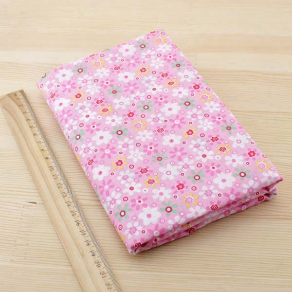 Booksew 7 pcs 50 cm x 50 cm Pink katun kuartal lemak tilda boneka - Seni, kerajinan dan menjahit - Foto 2