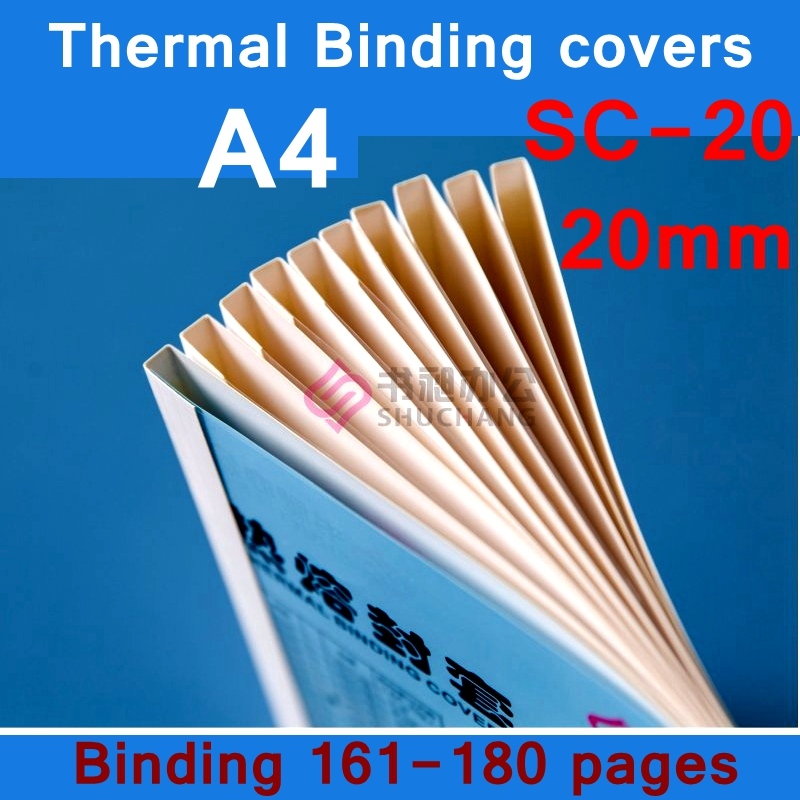 [ReadStar]10PCS/LOT SC-20 Thermal Binding Covers A4 Glue Binding Cover 20mm (160-180 Pages) Thermal Binding Machine Cover