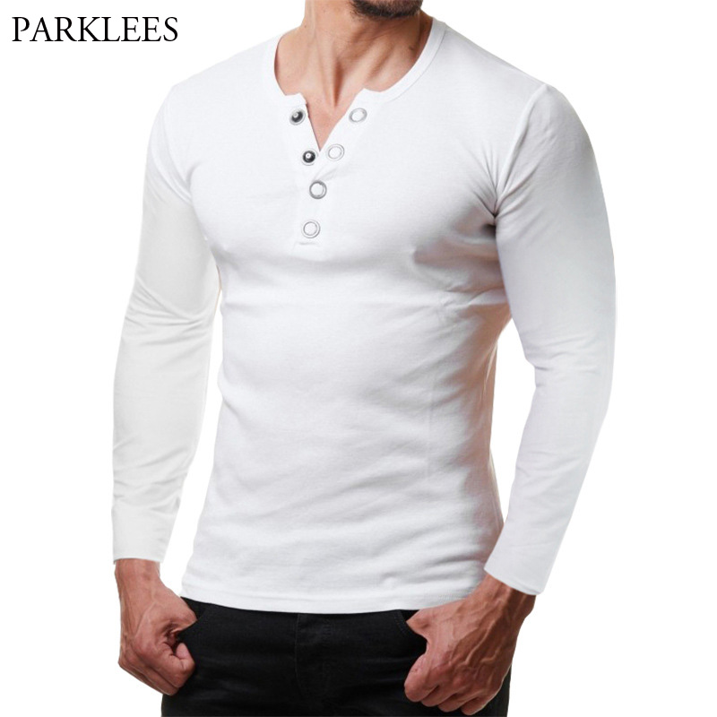 Solid Color   Polo   Shirt Men 2018 Brand New Long Sleeve Mens   Polo   Shirt Homme Slim Button Design   Polo   Shirt Casual Henley Shirt