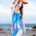 Sexy beach wear dress women 's sarong summer cover-ups wrap Pareo swimwear free shipping