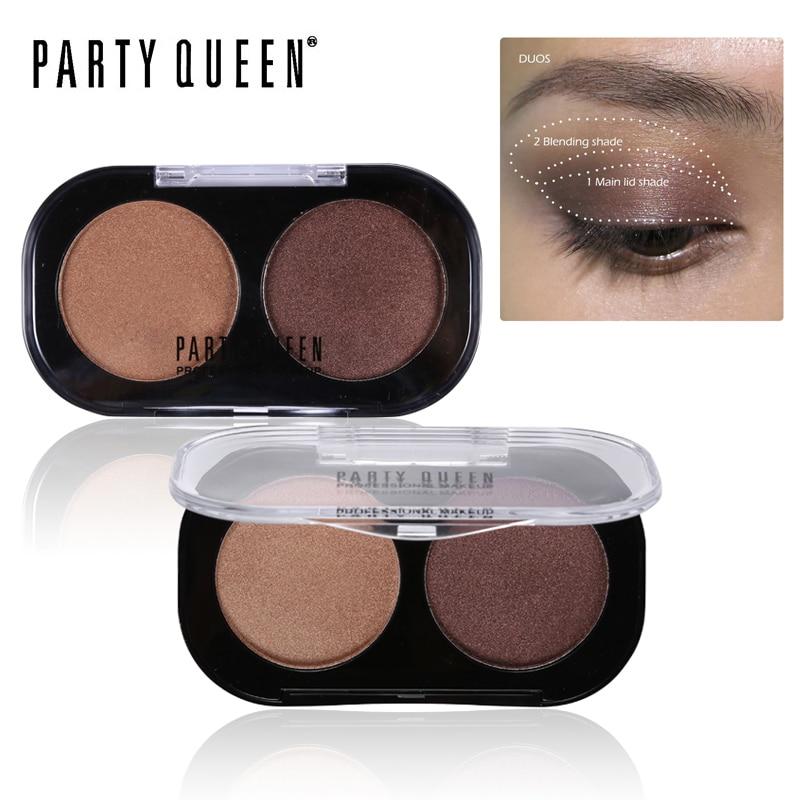 Party Queen Shimmer Matte 2 Barvy Oční stíny Paleta Kosmetické - Makeup