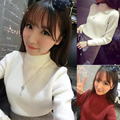 2017 new hot sale women's sweater cashmere wool blend pullover fashion female style turtleneck knitted solid