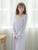 O Envio gratuito de 2017 Nova Verão das Mulheres Longas Pijama Princesa Sleepwear Chiffon e PT1626 Modal Camisola Rosa Roxo Branco