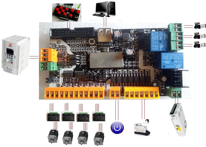 3-axis 4-axis control cards can be replaced MACH3 for diy cnc machine laser usb