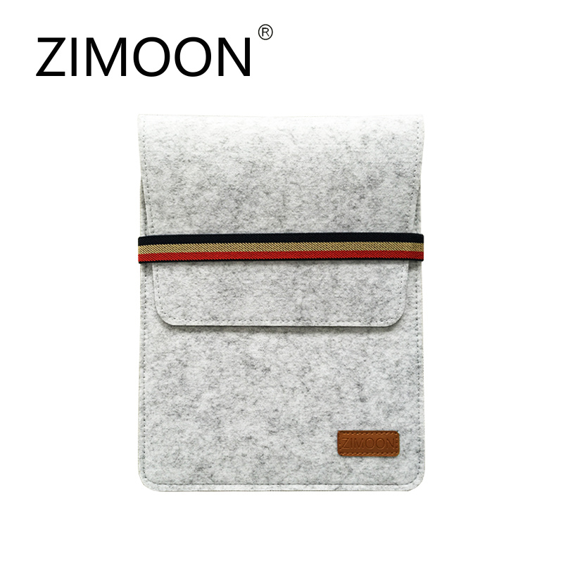 Zimoon 9.7″ Fashion Pad Bag Wool Felt Inner Tablet MID Sleeve Case Carrying Handle Bag For iPad 2/3/4 iPad Air 1/2